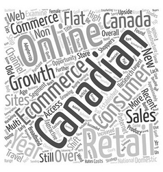 Ecommerce and canada text background wordcloud vector