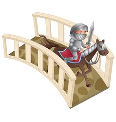 Knight and bridge vector image
