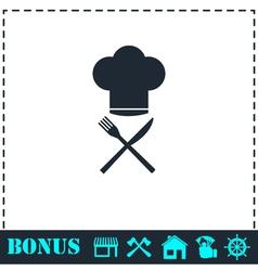 Restaurant menu icon flat vector image