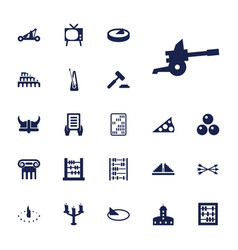 22 antique icons vector