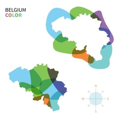 Abstract color map of Belgium vector