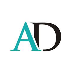 Ad initials letter logo vector