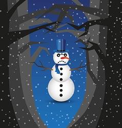 Bad snowman vector image