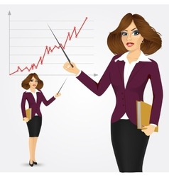 Beautiful young business woman vector