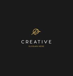 bird line creative logo design vector image