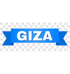 Blue stripe with giza caption vector