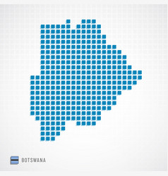 botswana map and flag icon vector image