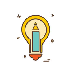 bulb icon design vector image