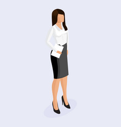 business woman in corporate clothing vector image