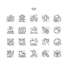 Canada well-crafted pixel perfect icons vector