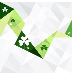 Clover abstract card triangles vector