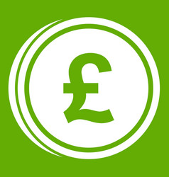coins of pound icon green vector image
