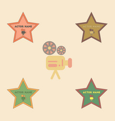Collection in flat style star vector
