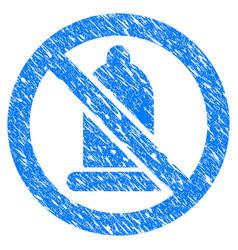 Condom forbidden grunge icon vector