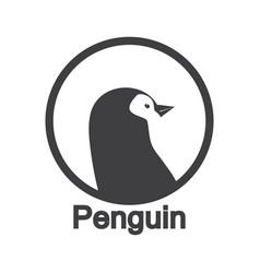 Cute penguins animal logo vector
