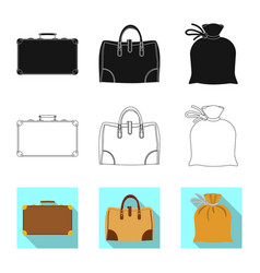 Design of suitcase and baggage icon vector