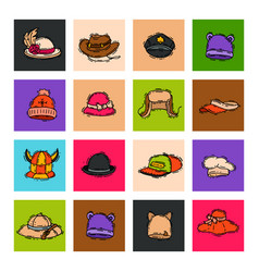 Different holiday carnaval hat fashion accessory vector