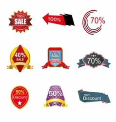 Discount label tag symbol vector