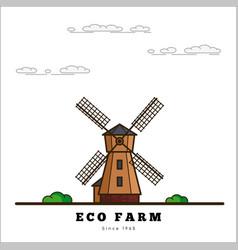eco farm concept vector image