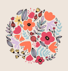 fantasy flowers card vector image