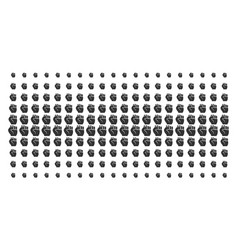 fist shape halftone pattern vector image
