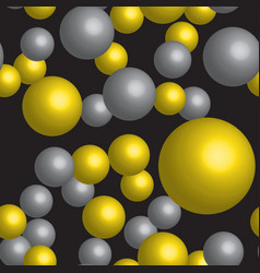 golden and silver balls seamless pattern vector image