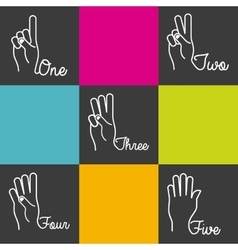 Hands language design vector