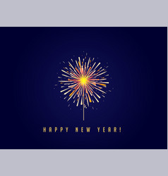 Happy new year card with fireworks vector