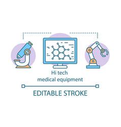 Hi tech medical equipment concept icon vector