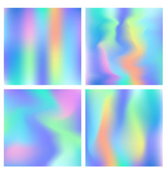 Holographic hipster abstract backgrounds set vector