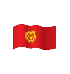 Kirghizia flag vector