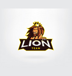 lion mascot sport style logo vector image