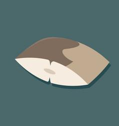 Mackerel icon flat design with shadow vector