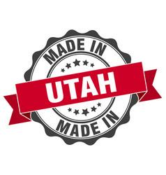 Made in utah round seal vector