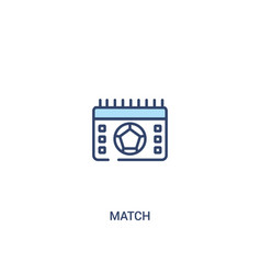 Match concept 2 colored icon simple line element vector
