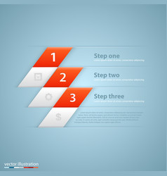 Modern business steps origami style options banner vector