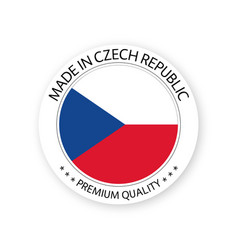 Modern made in czech republic czech sticker vector