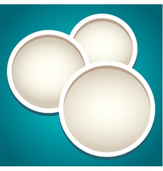 Modern round frames in paper cut style vector image
