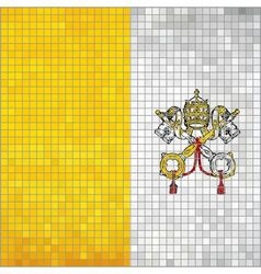 Mosaic flag of Vatican City vector