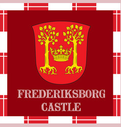 National ensigns of denmark - frederiksborg castle vector
