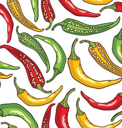 Pepper pattern background vector