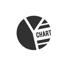 pie chart icon in trendy flat style isolated on vector image