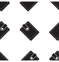pouch wallet icon seamless pattern vector image