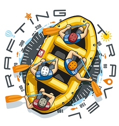 Rafting Travel Boat vector image