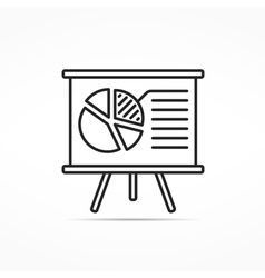 Report Line Icon vector image