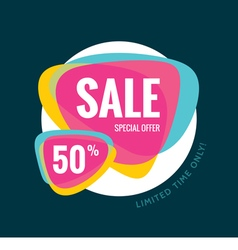 Sale banner template special offer 50 vector