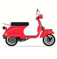 scooter old style motorbike delivery moped city vector image