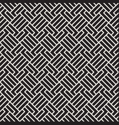 Seamless pattern geometric striped ornament thin vector