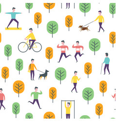 Seamless transport pattern people and vector