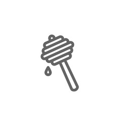 Simple honey dipper line icon symbol and sign vector